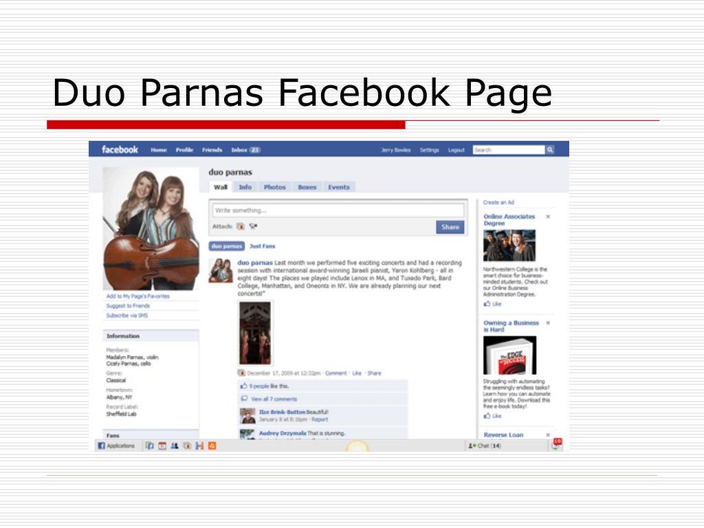 Duo Parnas Facebook Page
