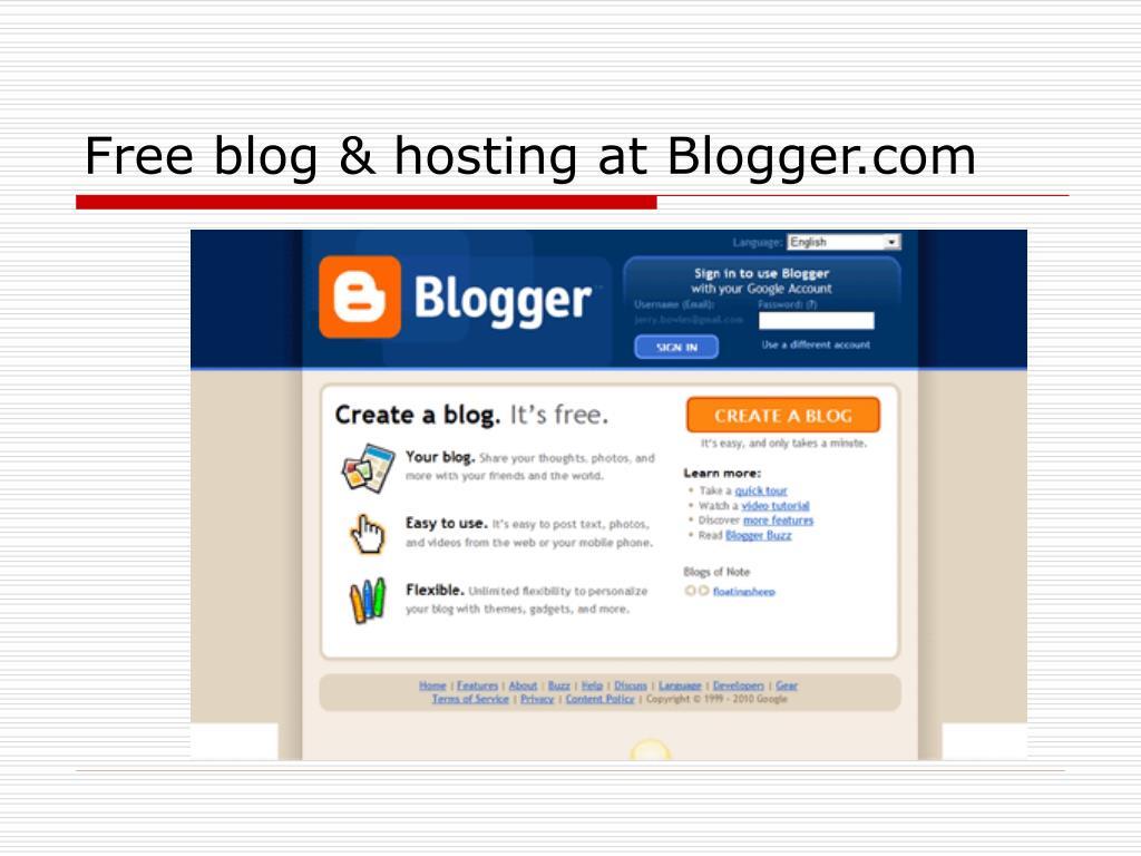 Free blog & hosting at Blogger.com