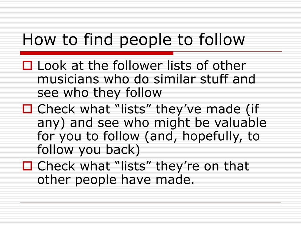 How to find people to follow
