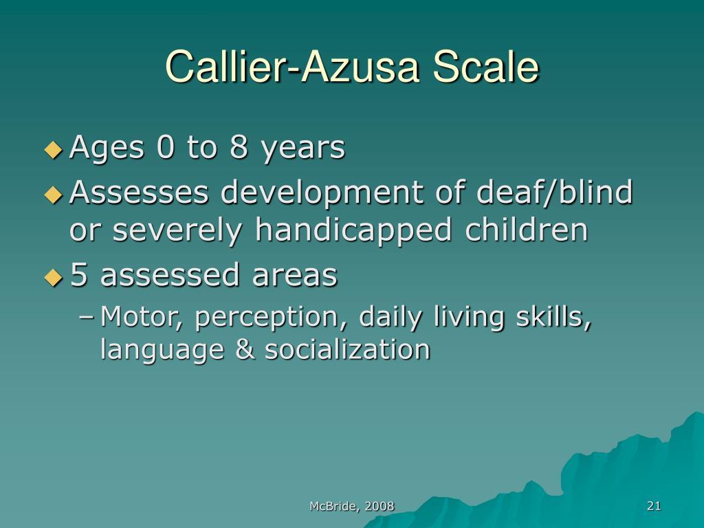 Callier-Azusa Scale