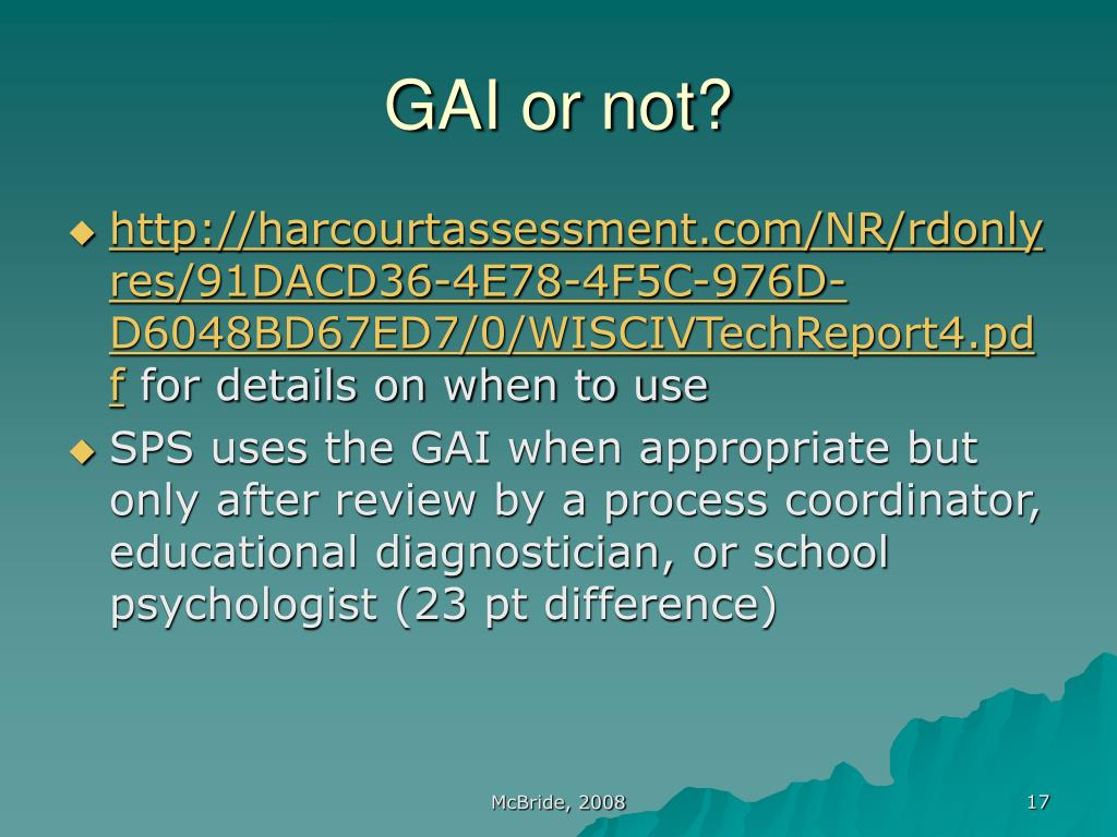 GAI or not?