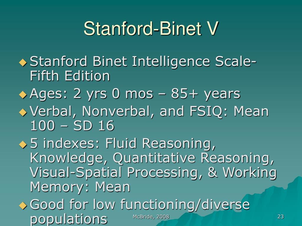 Stanford-Binet V