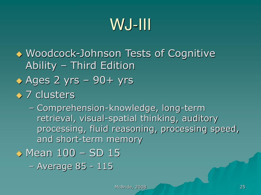 WJ-III