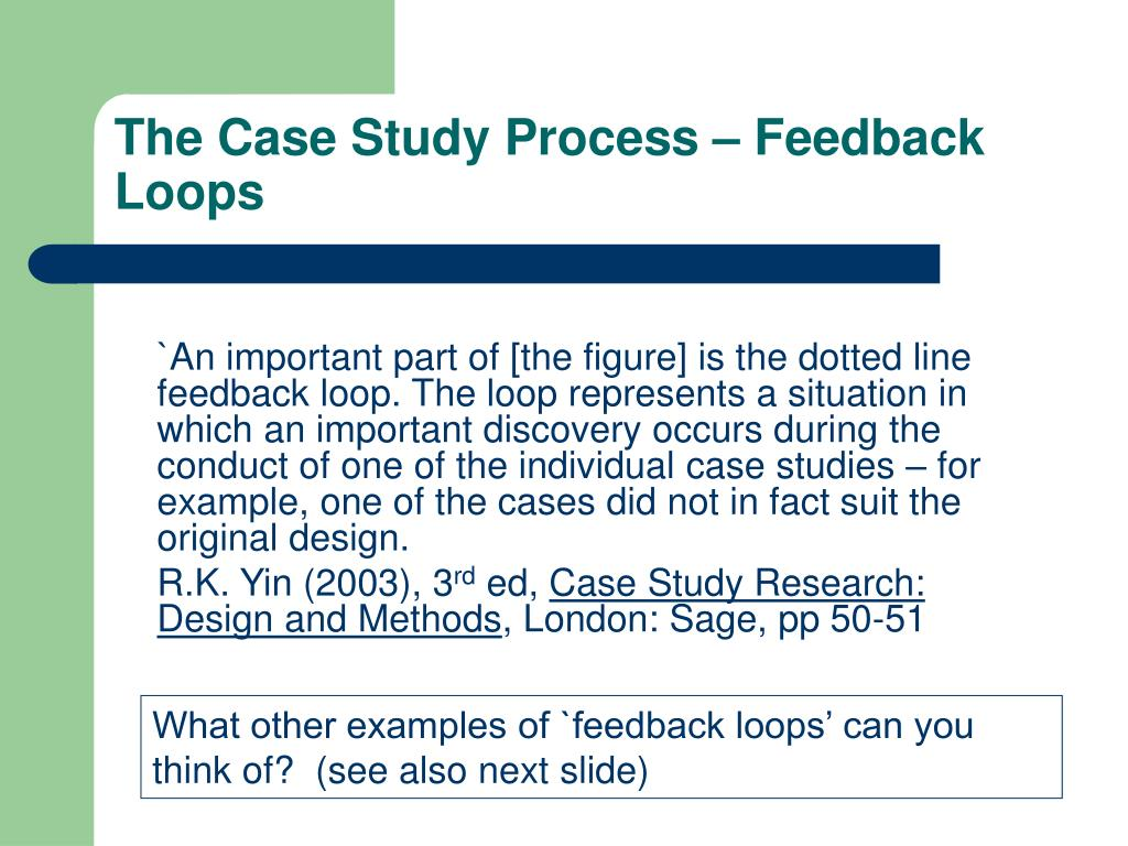 The Case Study Process – Feedback Loops