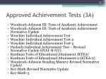 approved achievement tests 3a