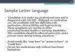 sample letter language27