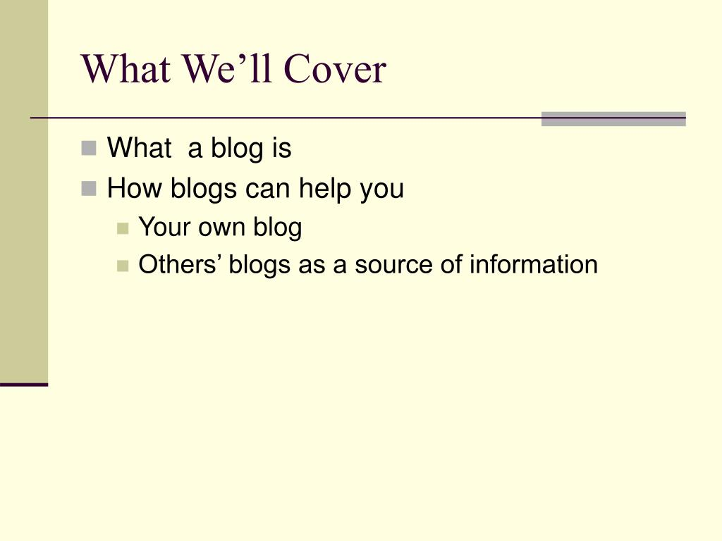 What We'll Cover