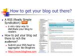 how to get your blog out there