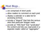 most blogs