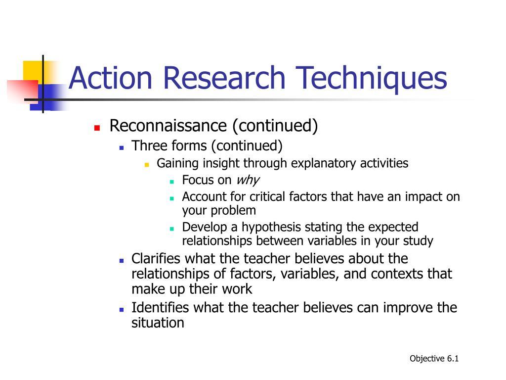 Action Research Techniques