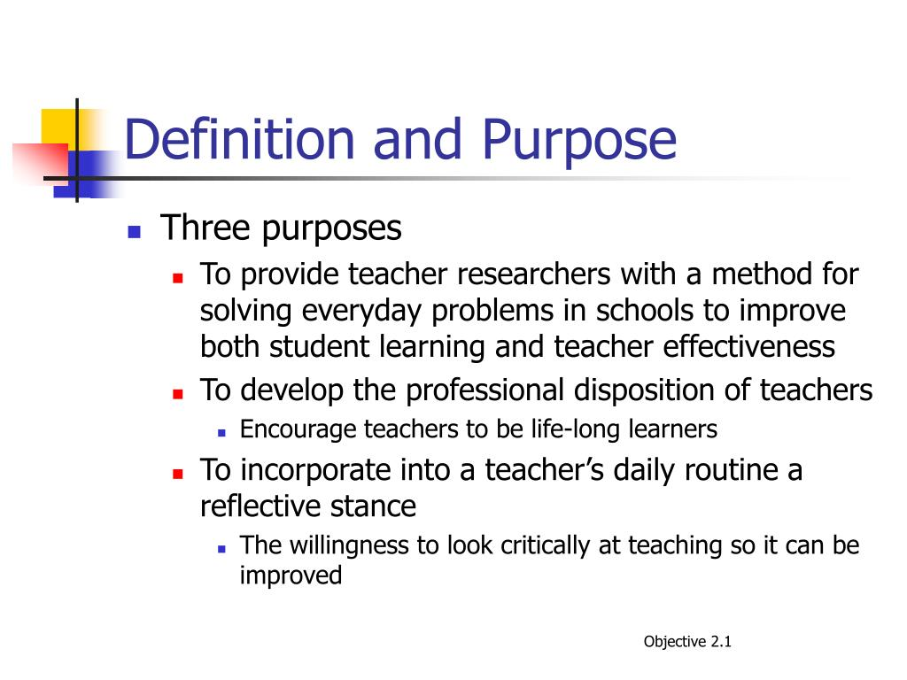 Definition and Purpose