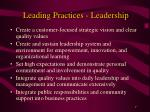 leading practices leadership