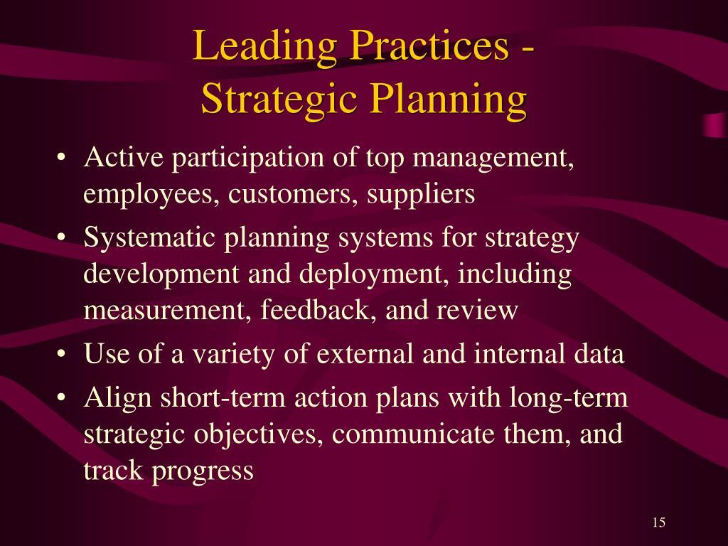 Leading Practices -