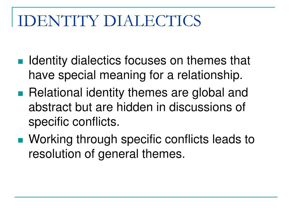 IDENTITY DIALECTICS