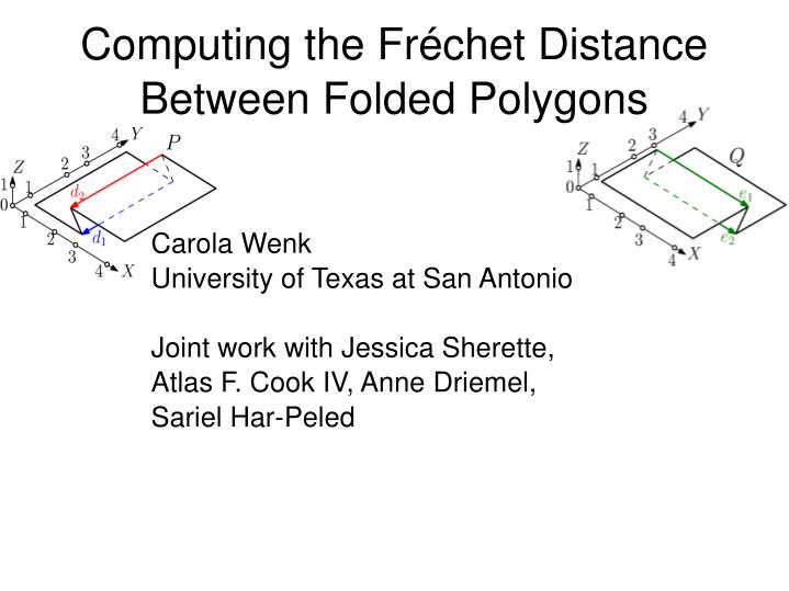 Computing the fr chet distance between folded polygons