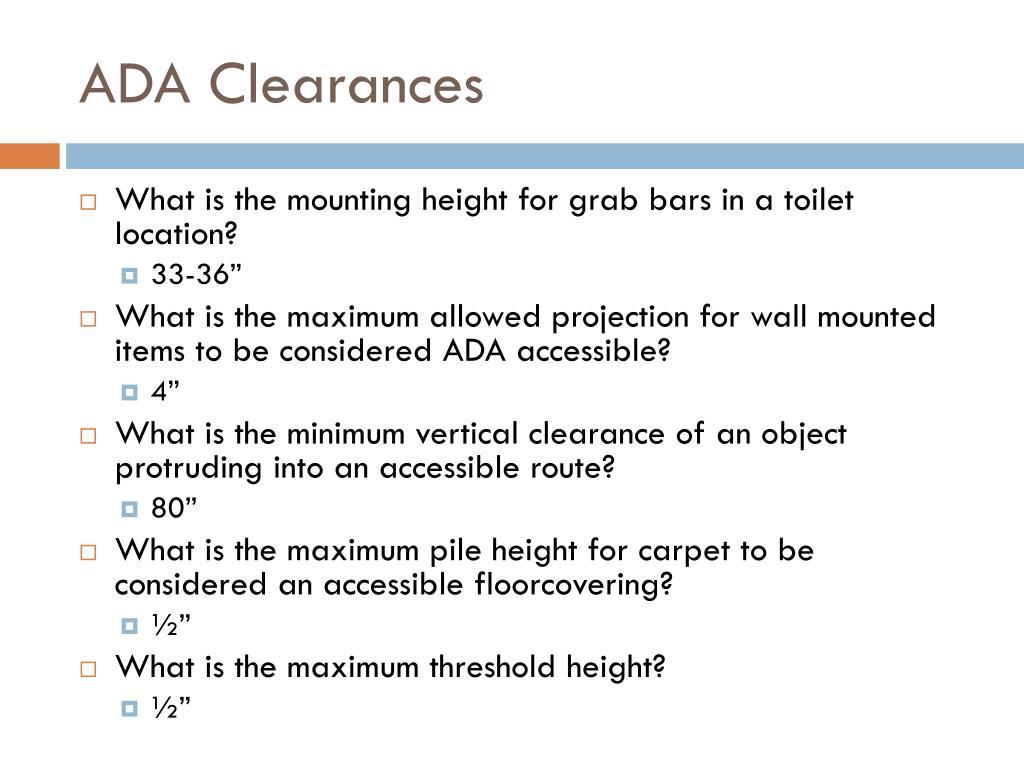 ADA Clearances
