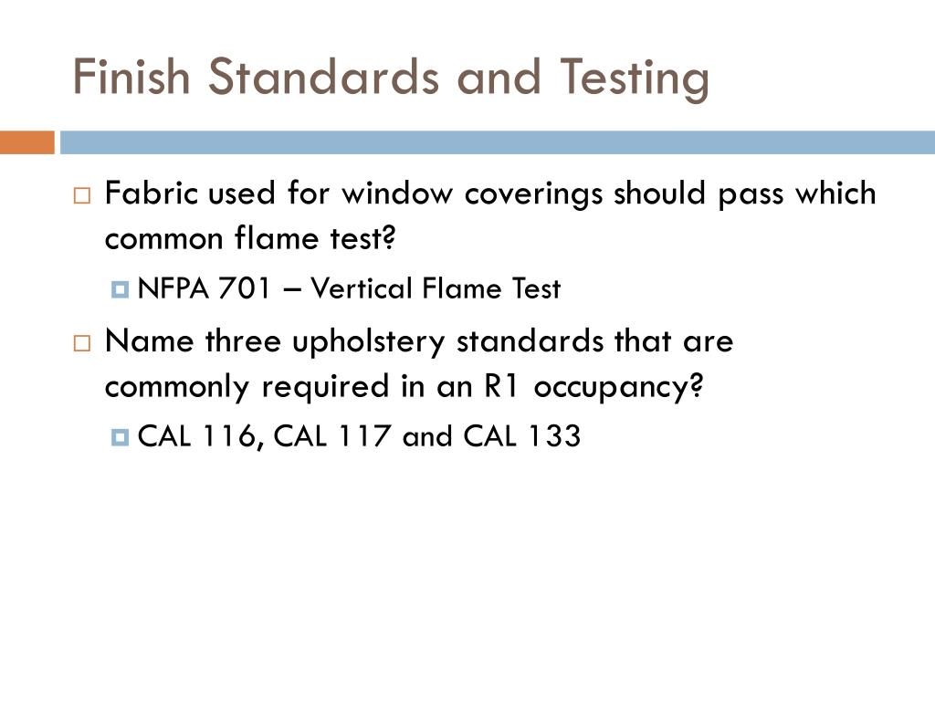 Finish Standards and Testing