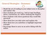 general strategies summary
