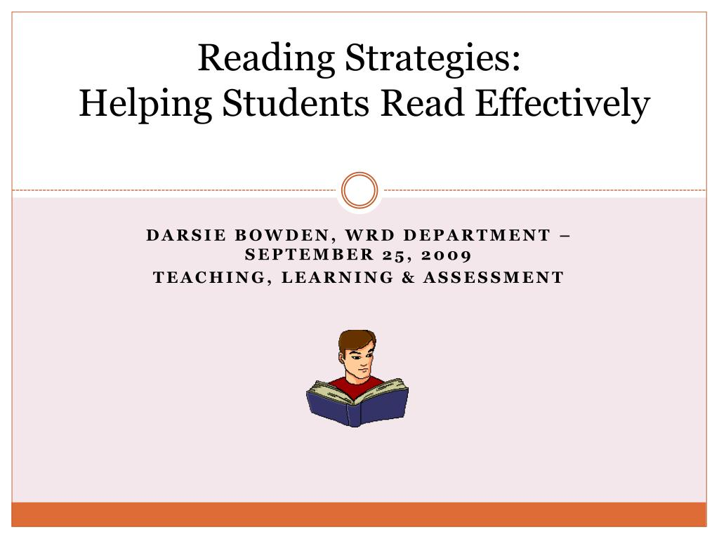 reading strategies helping students read effectively l.