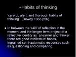 habits of thinking