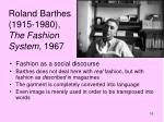 roland barthes 1915 1980 the fashion system 1967