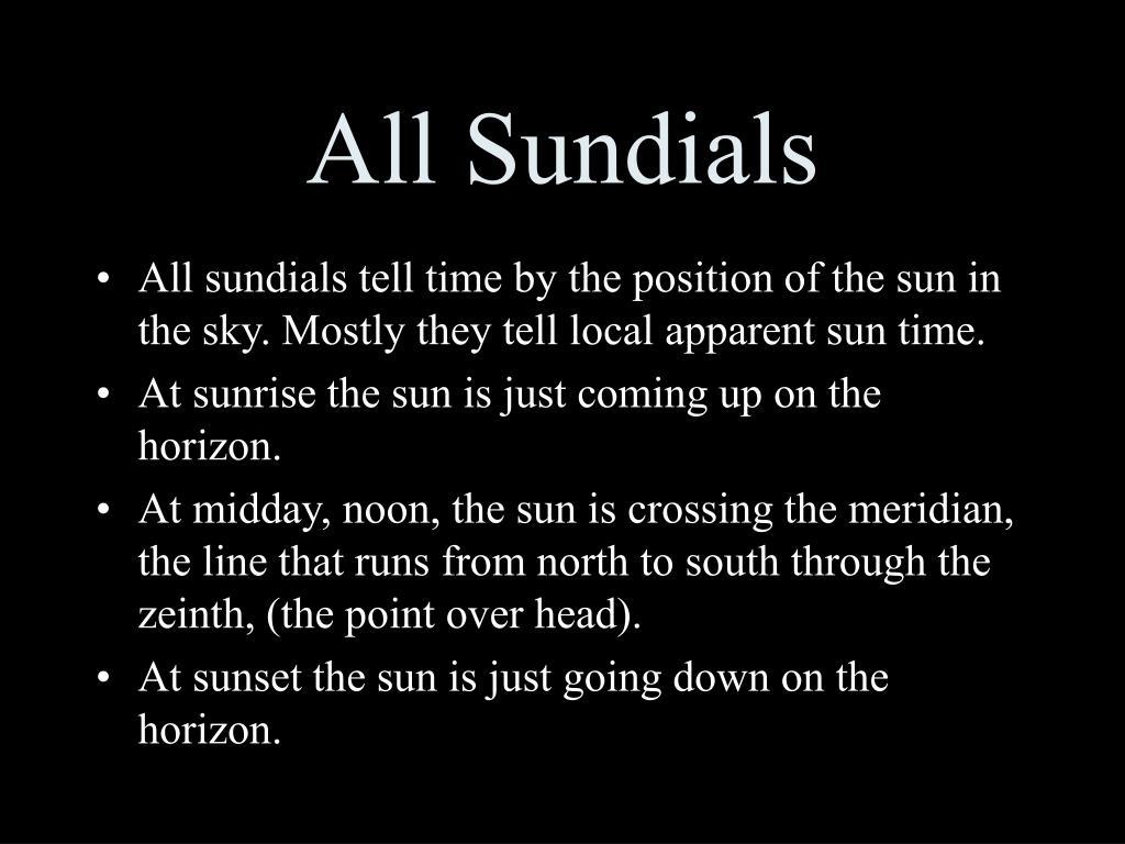 All Sundials