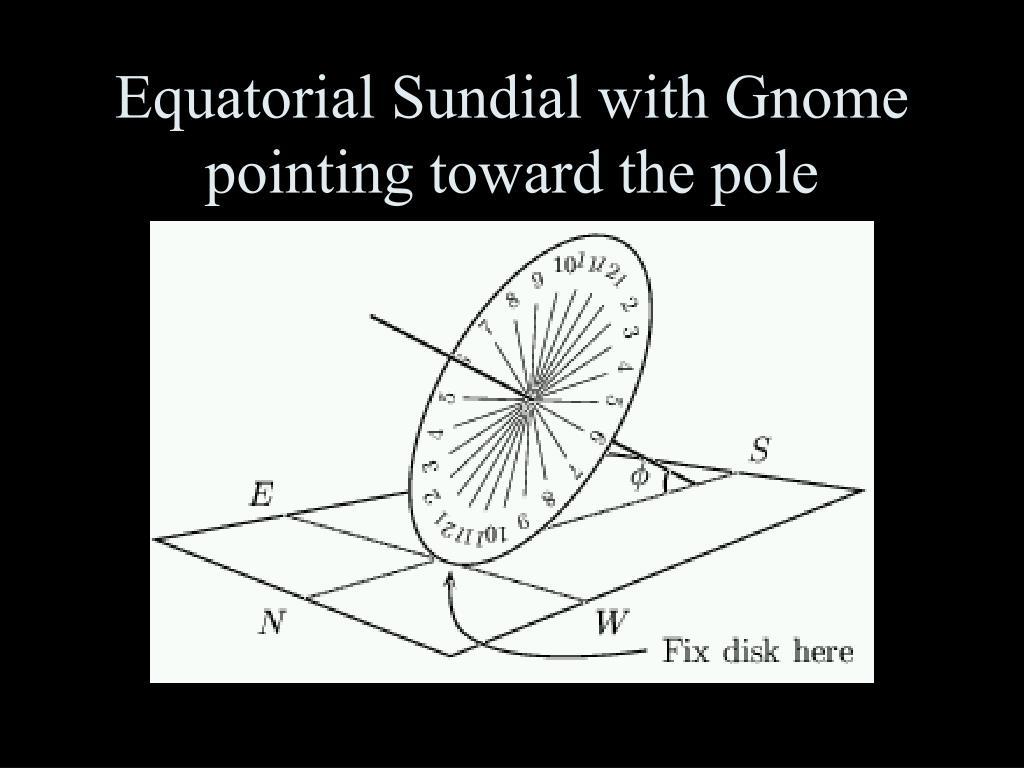 Equatorial Sundial with Gnome