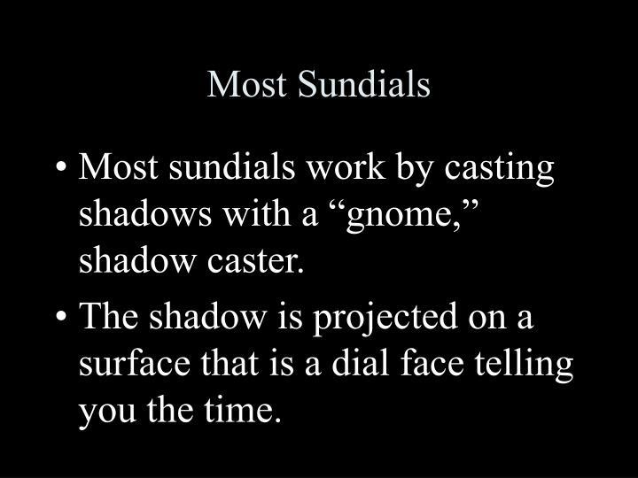 Most sundials