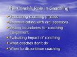 the coach s role in coaching