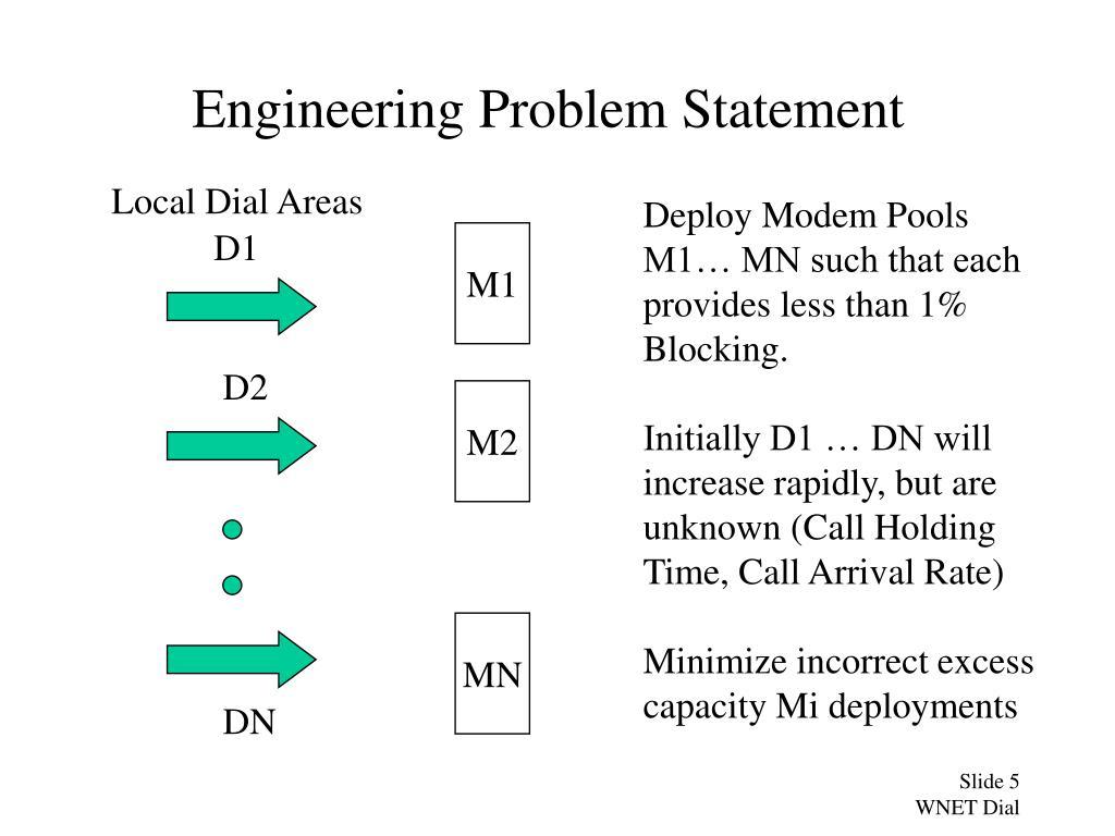Engineering Problem Statement