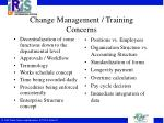 change management training concerns