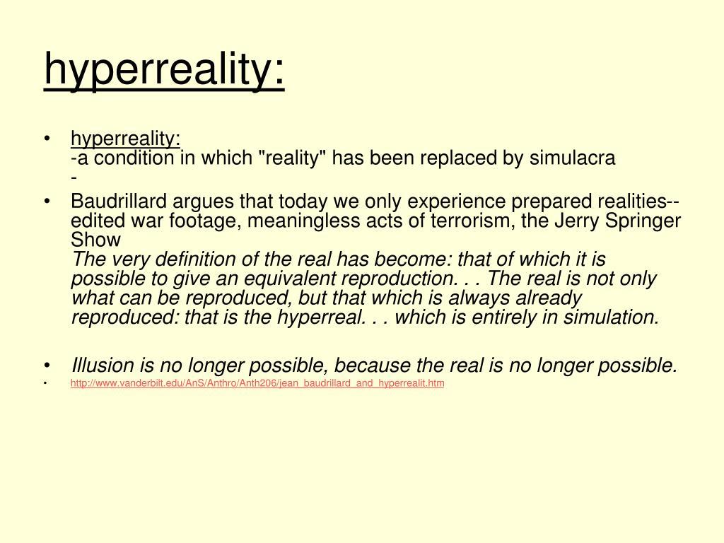 hyperreality: