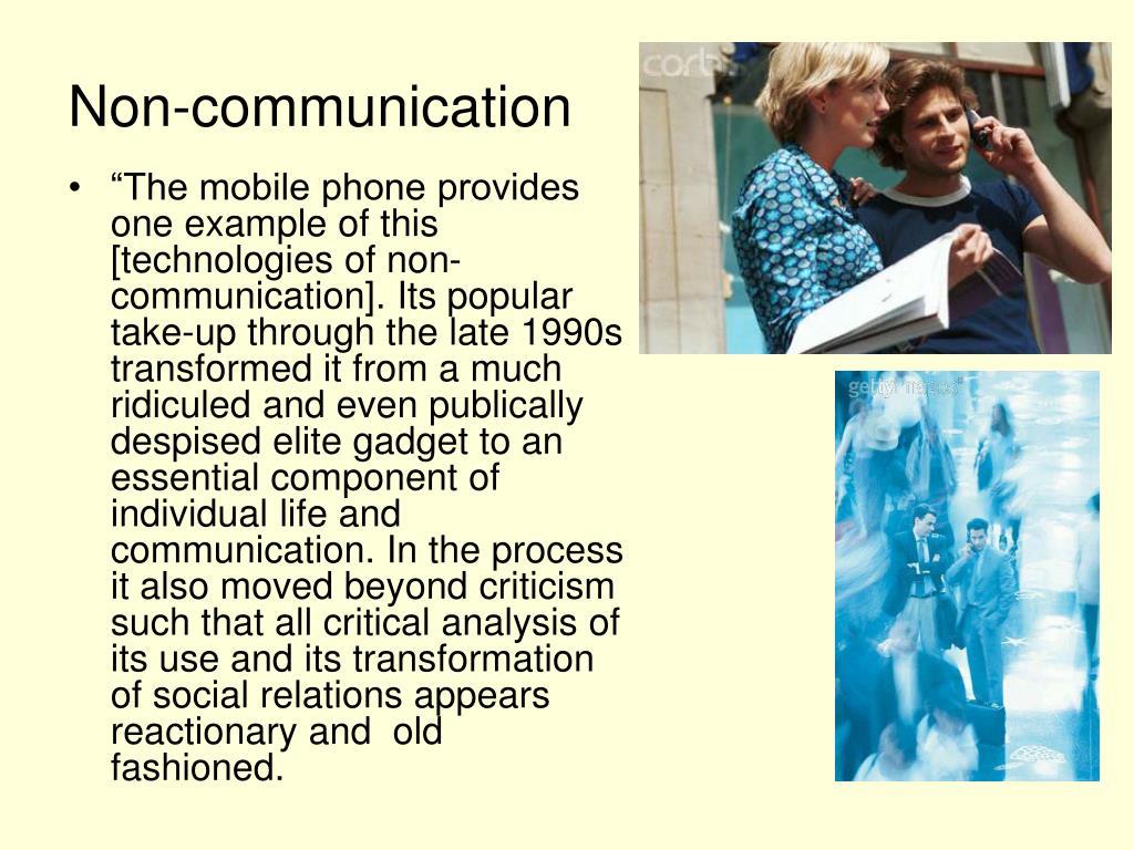 Non-communication