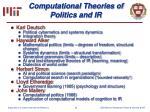 computational theories of politics and ir