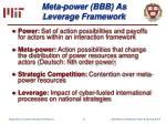 meta power bbb as leverage framework