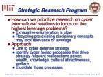 strategic research program