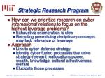 strategic research program20