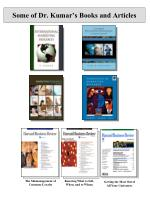 some of dr kumar s books and articles