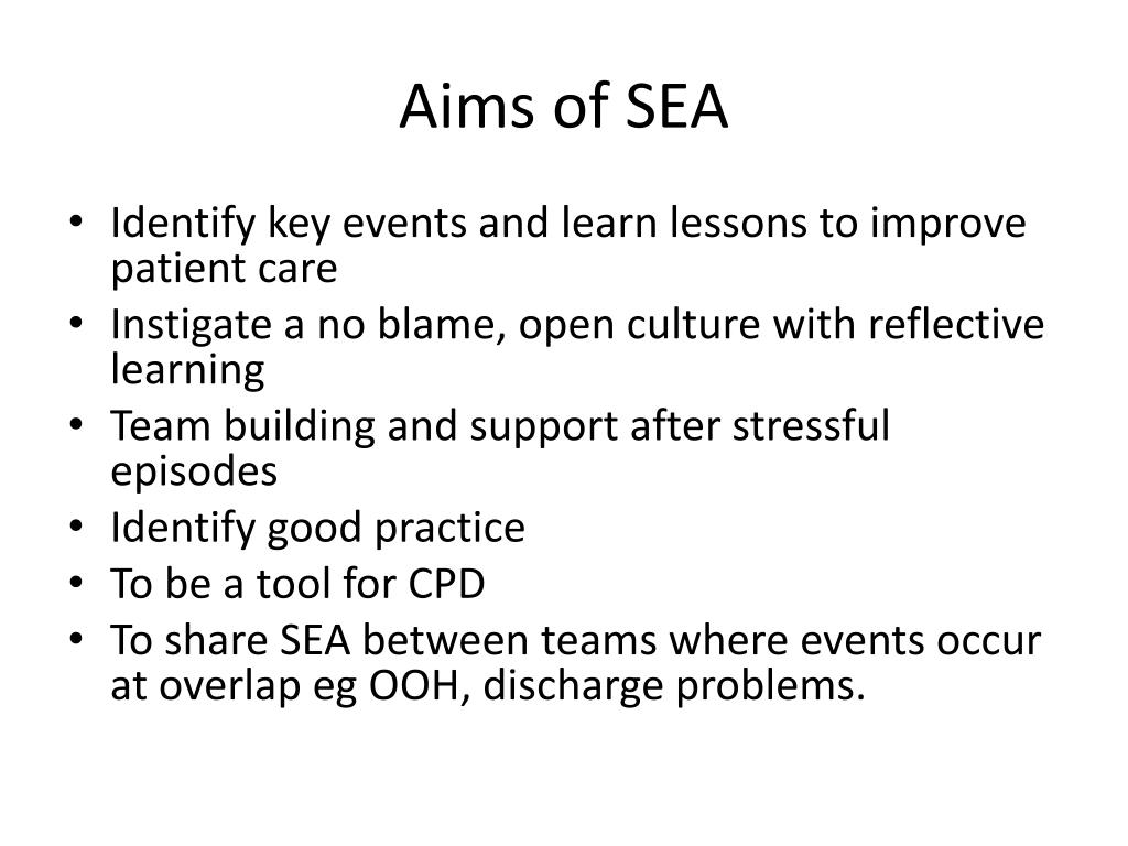 Aims of SEA