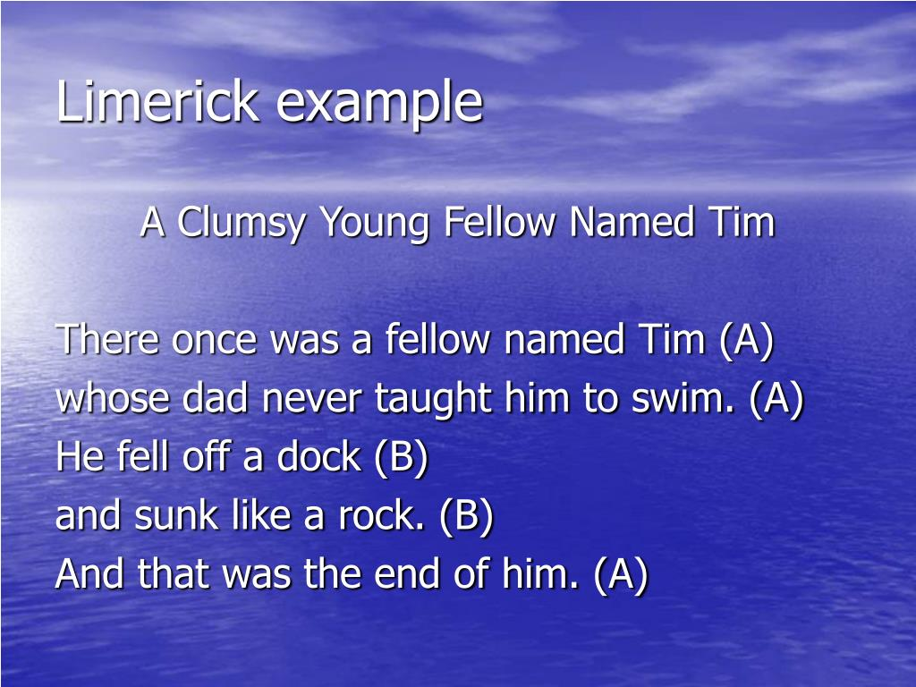 Limerick example