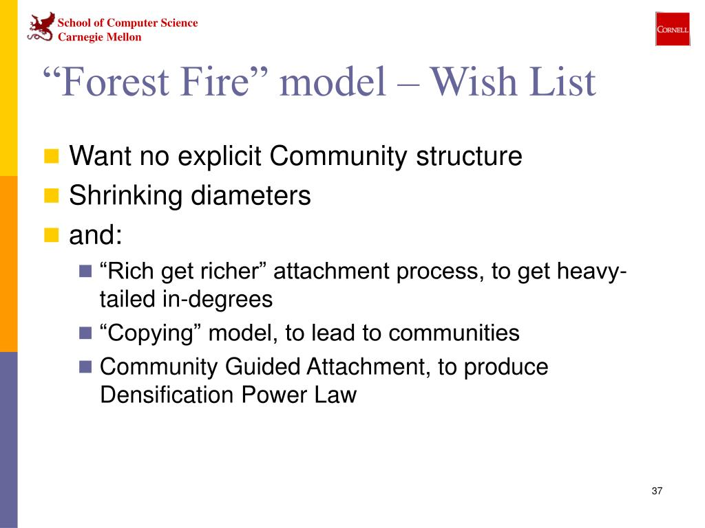 """Forest Fire"" model – Wish List"