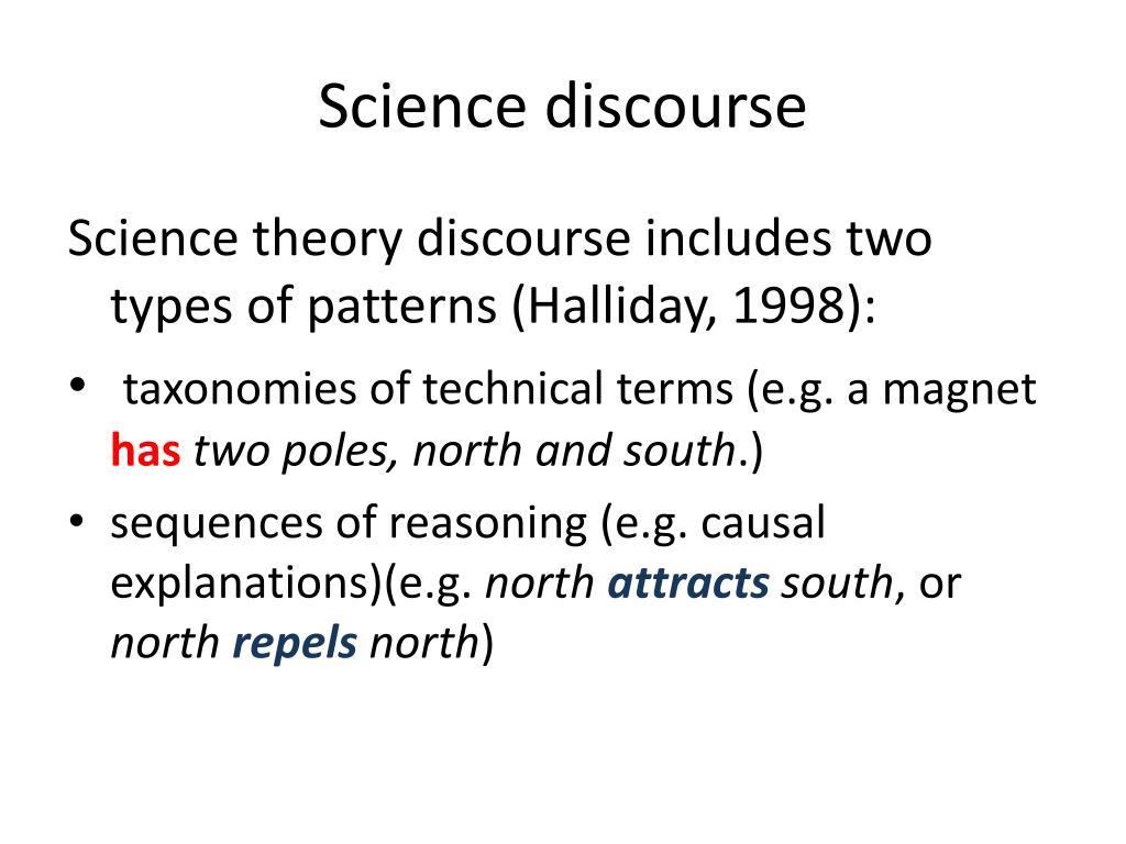 Science discourse