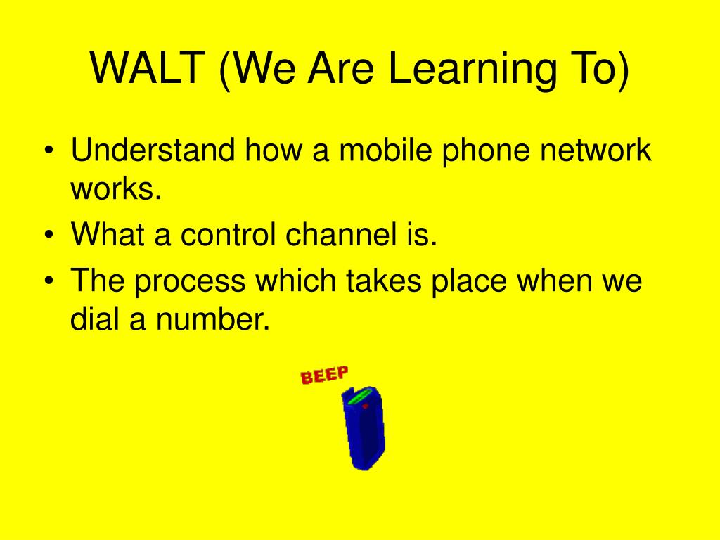 WALT (We Are Learning To)