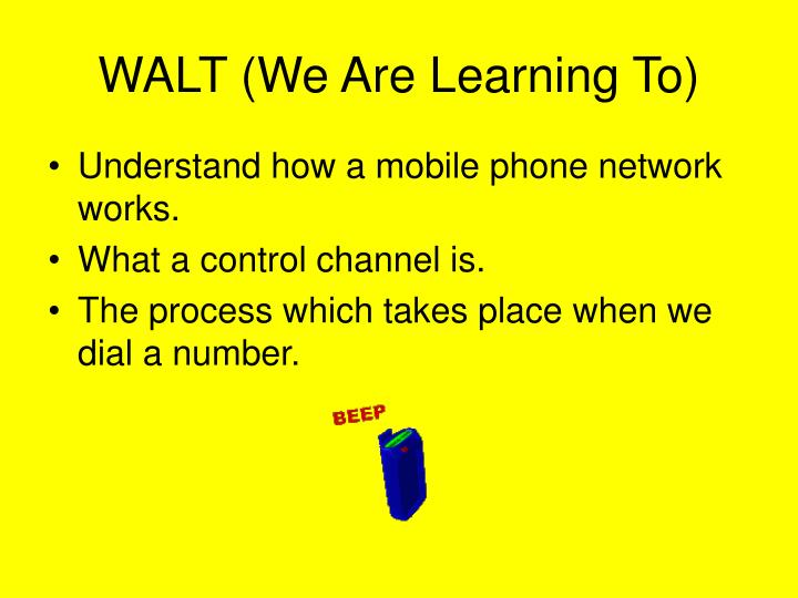 Walt we are learning to
