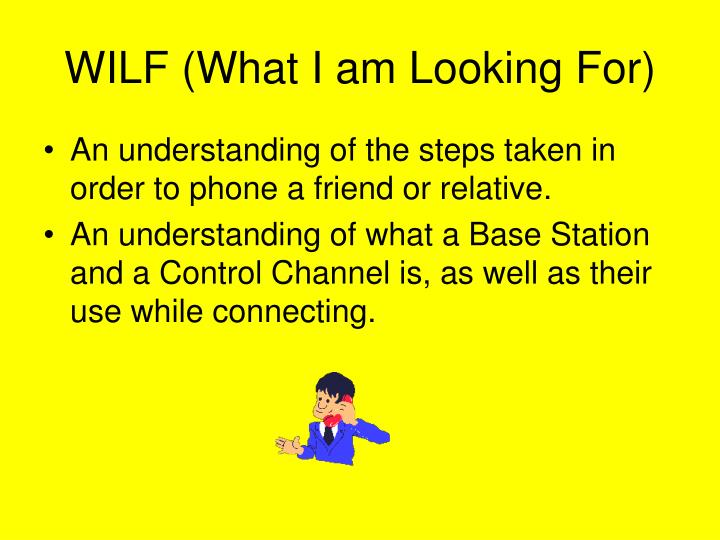 Wilf what i am looking for