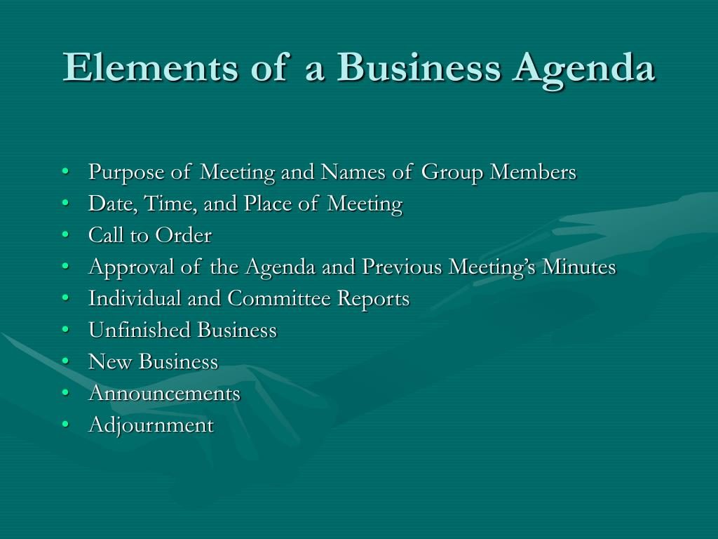 Elements of a Business Agenda