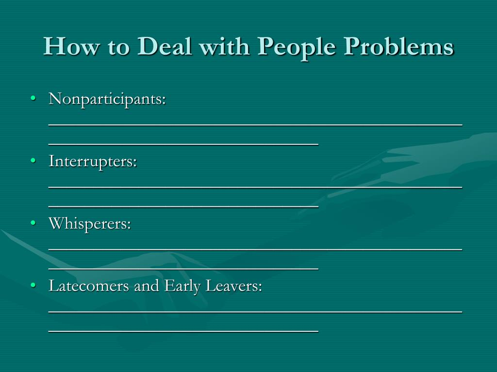 How to Deal with People Problems