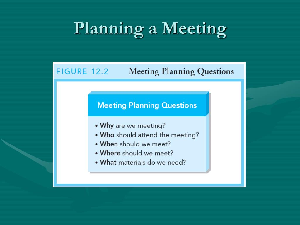 Planning a Meeting