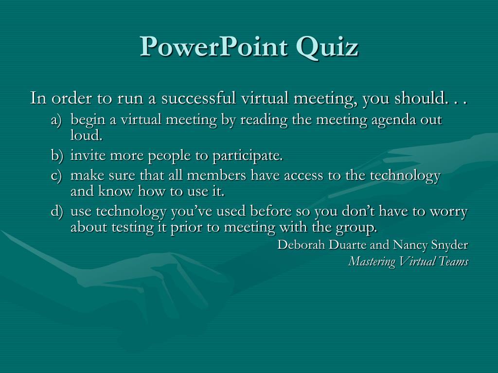 PowerPoint Quiz