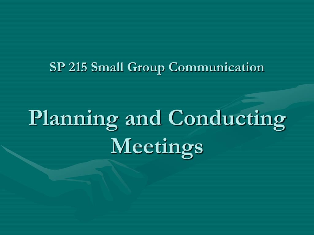 SP 215 Small Group Communication